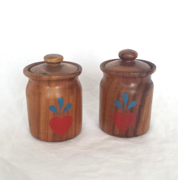 vintage canister set antique wooden canisters kitchen