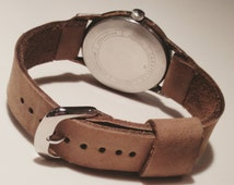 Vintage 1960 Caravelle watch with a hand made leather strap