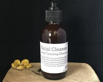 4oz Fresh All Natural Deep Pore Charcoal Gel Cleanser