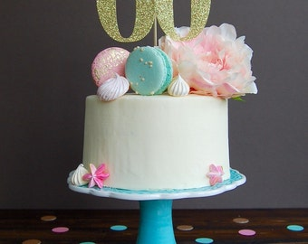 Cake topper - sixty cake topper, 60th birthday cake topper, sixieth birthday decorations, 60th birthday party, 60th birthday decorations