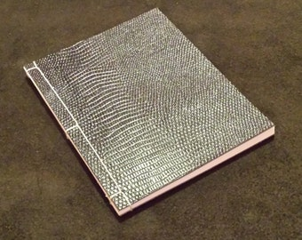 Black Scale Leather Japanese Stab Binding