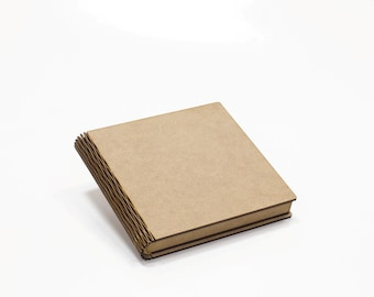 Slim unfinished wood box 6x7 inch book-box storage with hinged lid