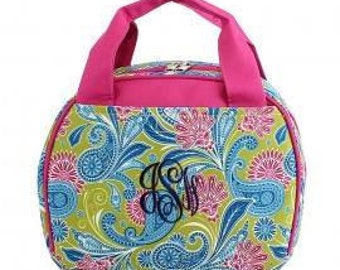 """ONLY 1 LEFT!  Monogram Lunch Tote   Length/Height/Width : 9.5"""" / 7.5"""" / 5.0"""""""