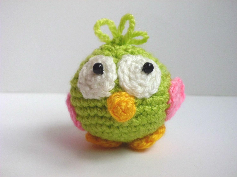 Baby Bird Amigurumi : Crochet Bird Stuffed Bird Amigurumi Bird Toy by FunnyAmiToys