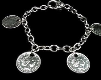 5 pence Charm Bracelet