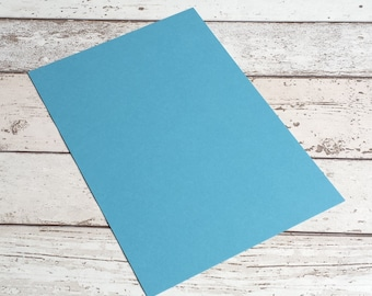 Cardboard sheet sky blue card making/invitations - Pick your size x 10 sheets