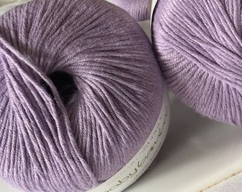 Bamboo Yarn, Sirdar baby Bamboo DK in Lavender Violet, Soft Baby Yarn, Lot of 7