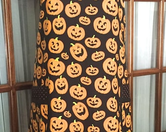 Halloween Apron - Pumpkin Apron - Jack O Lantern Apron - Retro Apron - Vintage Apron - 40s Apron