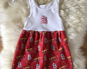 St. Louis Cardinals Dress, Stl Cardinals Baby Dress, Baby Dress, Toddler Dress, Baby Gift, Matching Dress and Headband