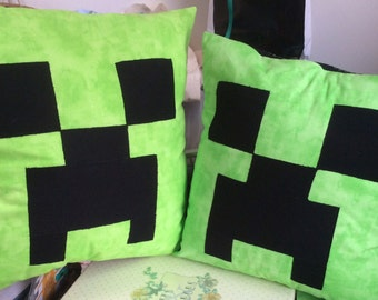 Minecraft inspired creeper cushion