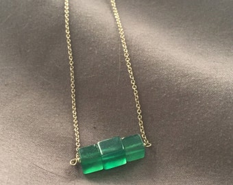 Tri Emerald Necklace