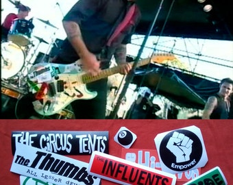 Billie Joe 2002 Version guitar stickers BJ Green Day vinyl decal Full Set 13
