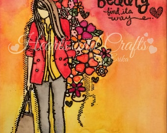 Let Beauty find its Way - 8x10 Matted Water-colored Photo (MAT-WCP-0018)
