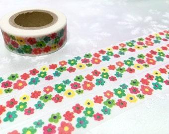 10M flower pattern washi tape little Sun flower red yellow green sunflower masking tape blossom flower sticker tape flower diary decor gift