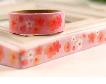 Sakura washi tape 5M Cherry blossom sticker tape Japanese flower blossom florist deco masking tape flower planner gift diary scrapbook