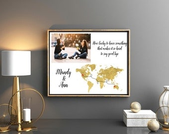 Best friend graduation gift best friend long distance graduation gifts for friend long distance print Christmas gift for friend  moving away