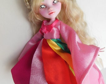 OOAK Lady Rainicorn Monster High Doll Repaint