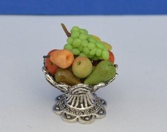 Miniature Fruit Bowl, Doll House Miniature Fruit, Doll House Food
