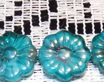 Beads of glass, 15mm, 15pcs