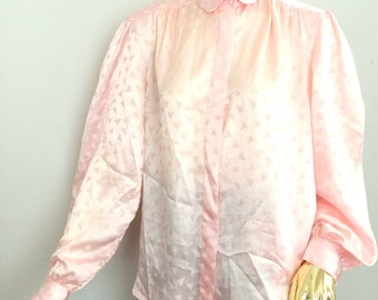 pink 80s shirt, vintage pink shirt, womens pink shirt, 1980s shirt, 80s shirt,  button down shirt, vintage pink oversized 80
