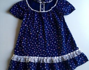 Navy Vintage Prairie Dress size 6