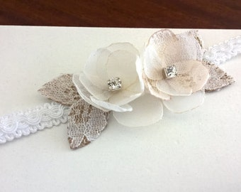 White Lace  Wedding Corsage, Lace Wrist Corsages, Ivory Flower Corsage, MOB, MOG, MOH, Bridesmaid, Bride or Flower Girl