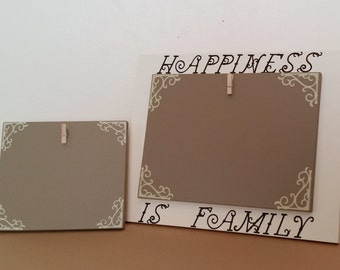 Picture Frame set, Picture Frame, Happiness Is Family Picture Frame, Brown Picture Frame, custom picture frame, wood picture frame,