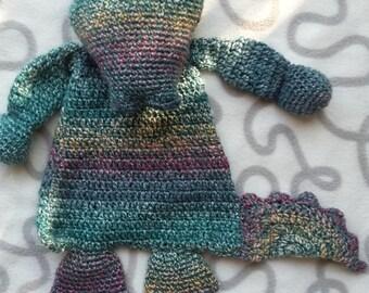 "Crochet rag doll ""Crocodile"""