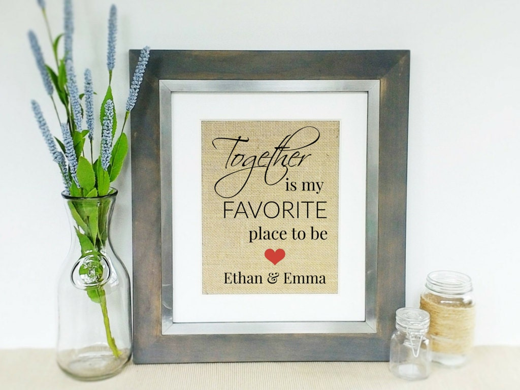 Wedding Gift Love Quote : Personalized LOVE Quote Wedding Gift Idea Bridal Shower Gift