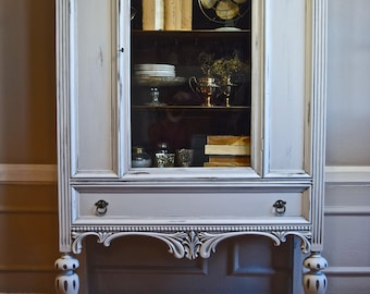 SOLD: Antique Solid Wood China Cabinet