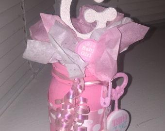 It's a girl mason jar centerpiece, it's a girl, mason jar, centerpieces
