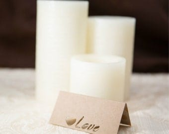Custom Place Cards, Wedding Place Cards, Elegant Place Cards, Heart Place Cards, Love Place Cards, Wedding Escort Cards, Wedding Table Cards