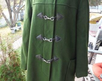 1950's Vintage Forest Green Ladies Wool Coat