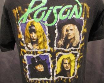1990 Poison Rock Tee, Flesh and Blood World Tour, Size XL