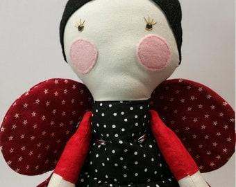 Ladybug handmade doll