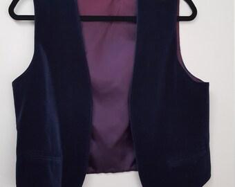 Vintage Vest // Dark Cobalt Blue Vest