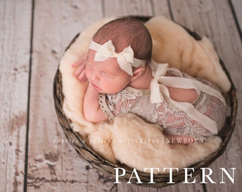 ROMPER PATTERN - Newborn Romper Sewing Patterrn - Liv//Newborn Photography Prop