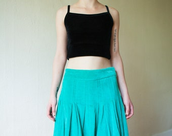 Turquoise Tea-Party Wonderland Skirt