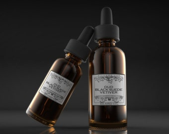 Oud Black-Suede Vetiver,  beard oil, tonic, all natural