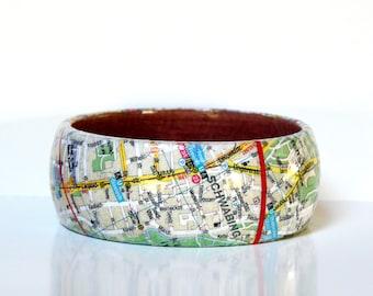 Bangles map recycled Munich City
