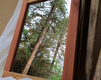 Oak/Redwood Reclaimed Salvaged Mirror