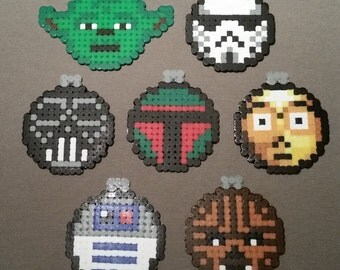 Star Wars Christmas Ornaments or Coasters (Beads)
