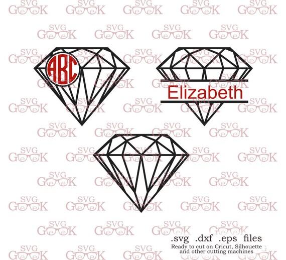 Diamond Svg Cut Files Diamond Monogram Frame Svg Cut Files