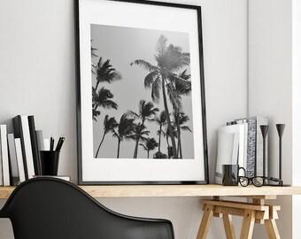 Palm Trees Printable Photography Digital Download Large Art Palm Tree Art Tropical Wall Art Print Instant Home art Wall Decor Beach Prints