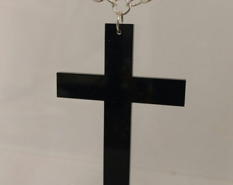 Acrylic Cross Necklace