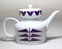 Porcelain Tea Pot Vintage german  Melitta Paris Tea Coffee Pot  1977