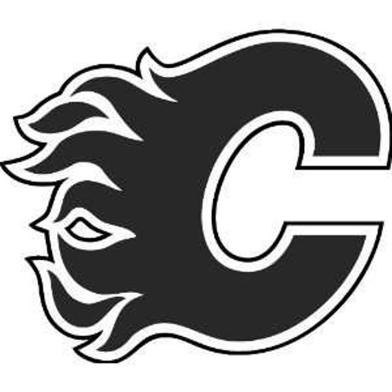 calgary flames logo coloring pages - photo#9