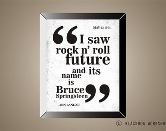 BRUCE SPRINGSTEEN Inspired, Poster, Print, 11x14, Quote, Top Selling Item, Limited Edition