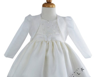 Baby Organza Jacket & Butterfly Christening Dress