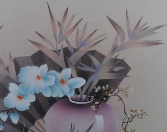 Signed original Naventy oil floral painting